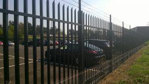 A high security fence made by Lochrin Bain.