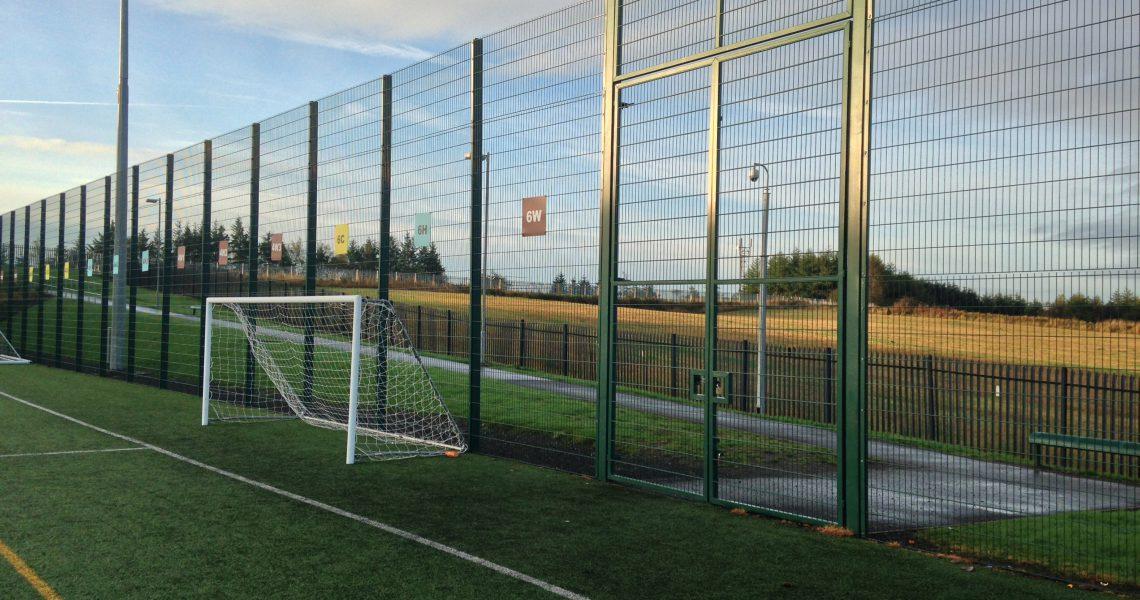 The Lochrin BallGUARD fencing system.