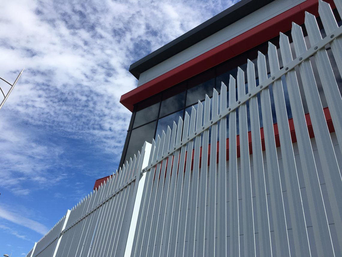 Lochrin Combi high security fencing used at a CNI bulk storage facility.
