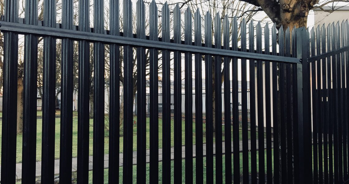 The Lochrin Defender SR3 maximum security fencing system.