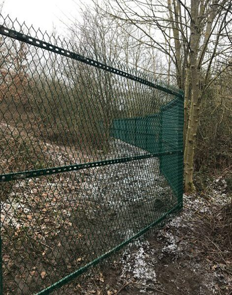 Lochrin ExGUARD expanded metal fencing.