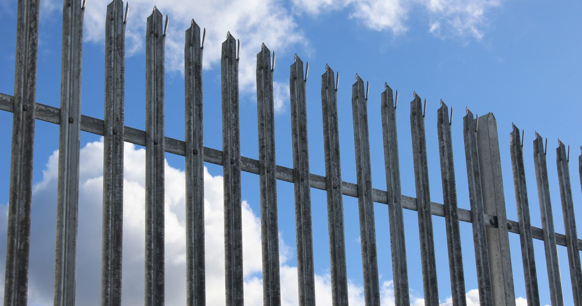The triple pointed pale head available on Lochrin Palisade fencing.