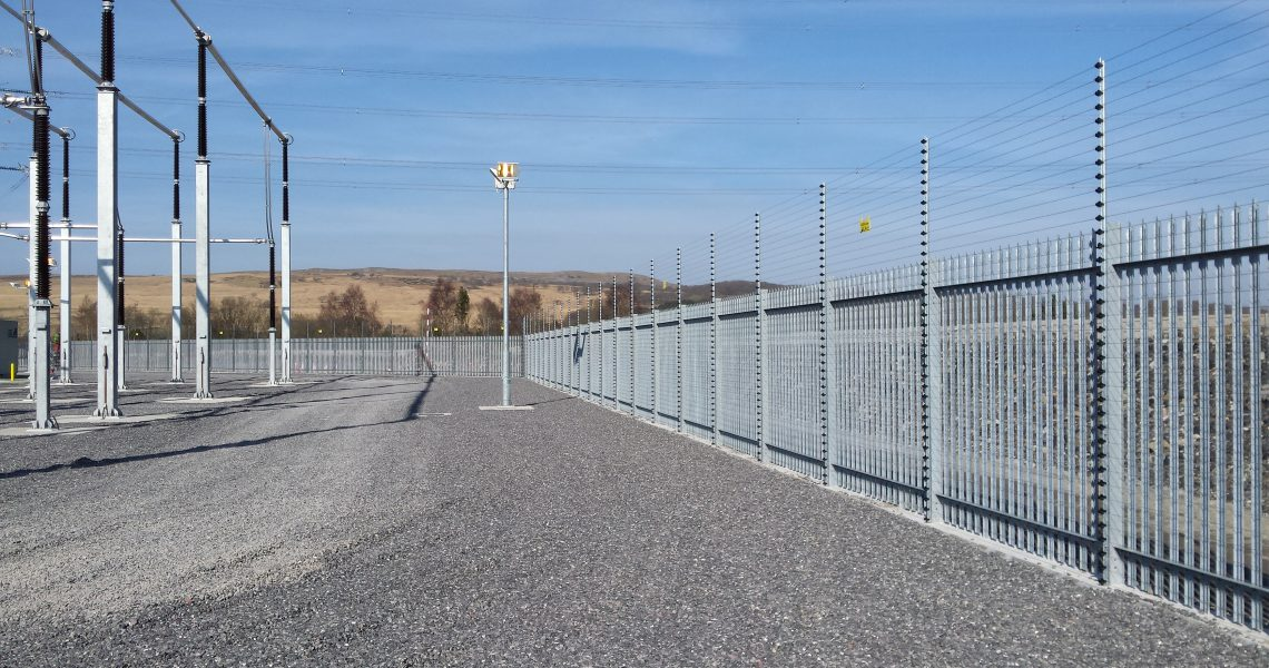 Lochrin Palisade security fencing.