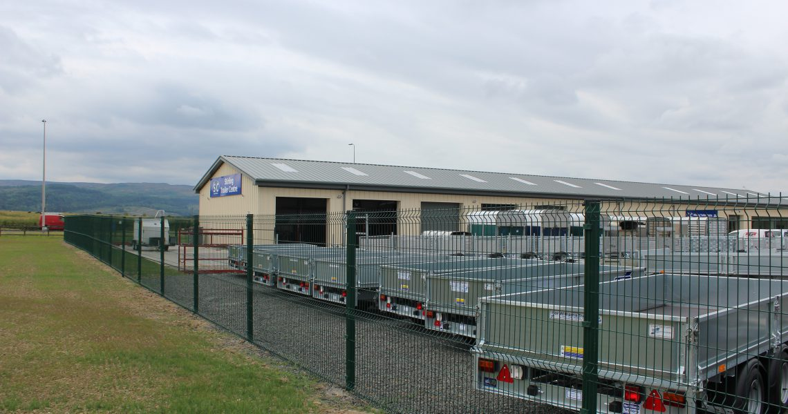A Lochrin WaveGUARD fencing installation for Stirling Trailers.