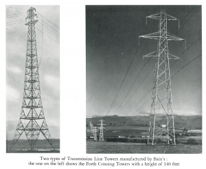 Transmission Line Towers manufactured by William Bain.